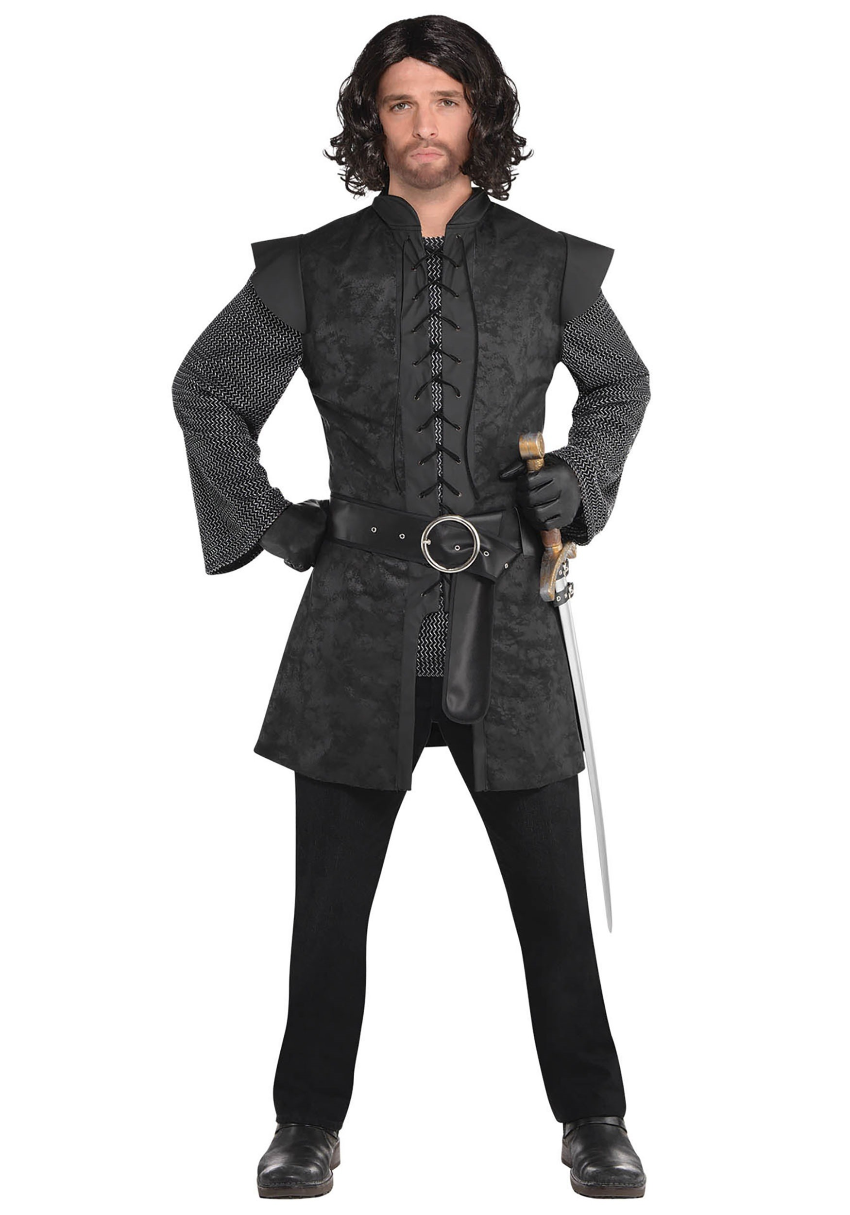 Warrior_Black_Tunic_Men's_Fancy_Dress_Costume