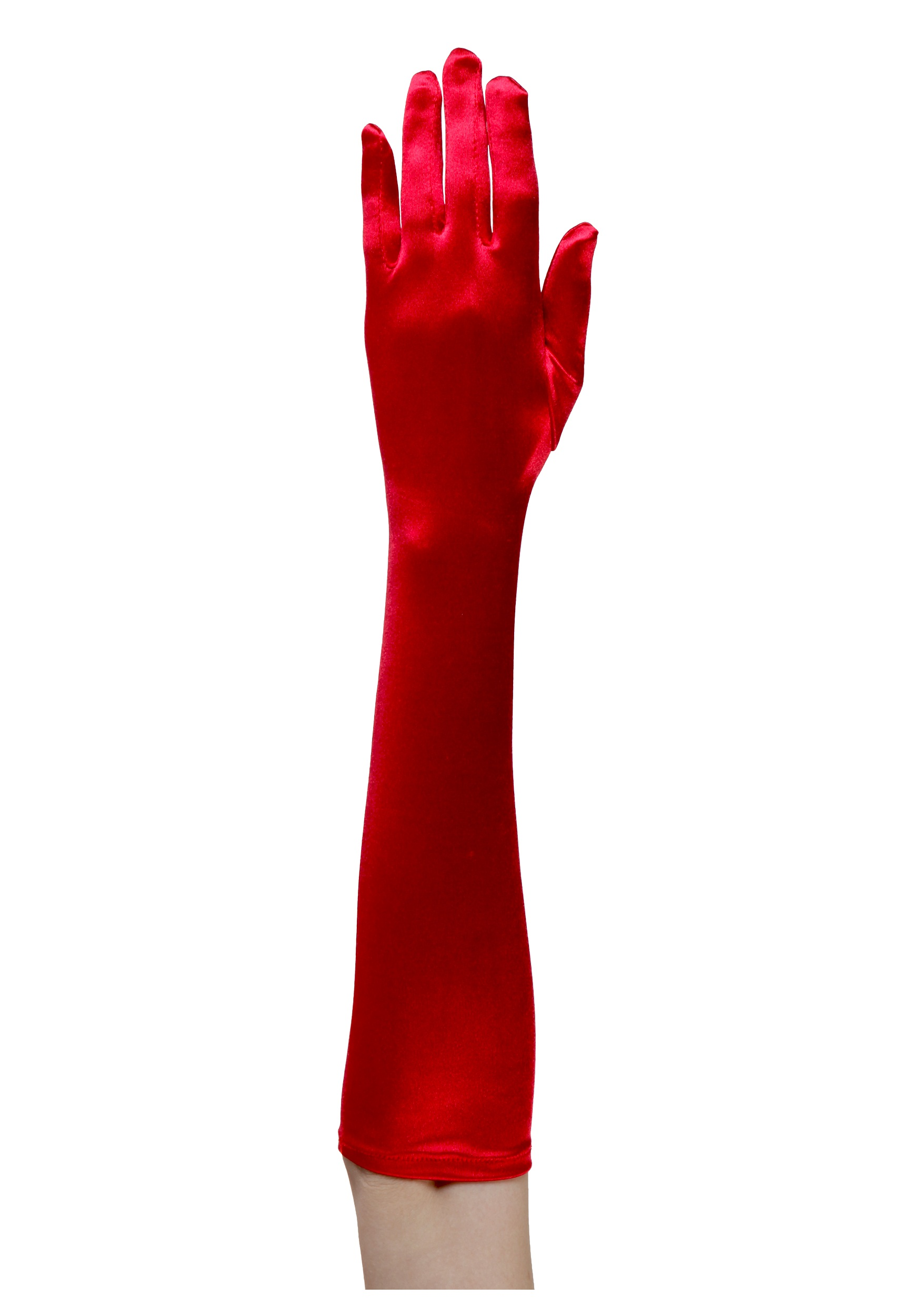Elbow Length Red Gloves