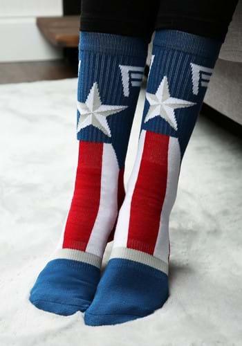 Captain America Marvel Suit Up Crew Socks