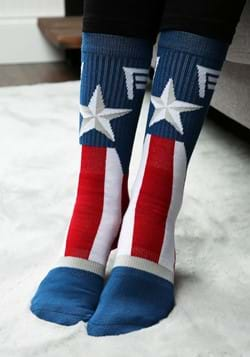 Captain America Marvel Suit Up Crew Socks