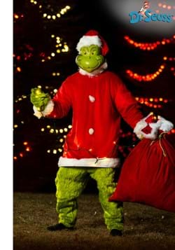 Men's The Grinch Santa Jumpsuit with Mask Costume Update