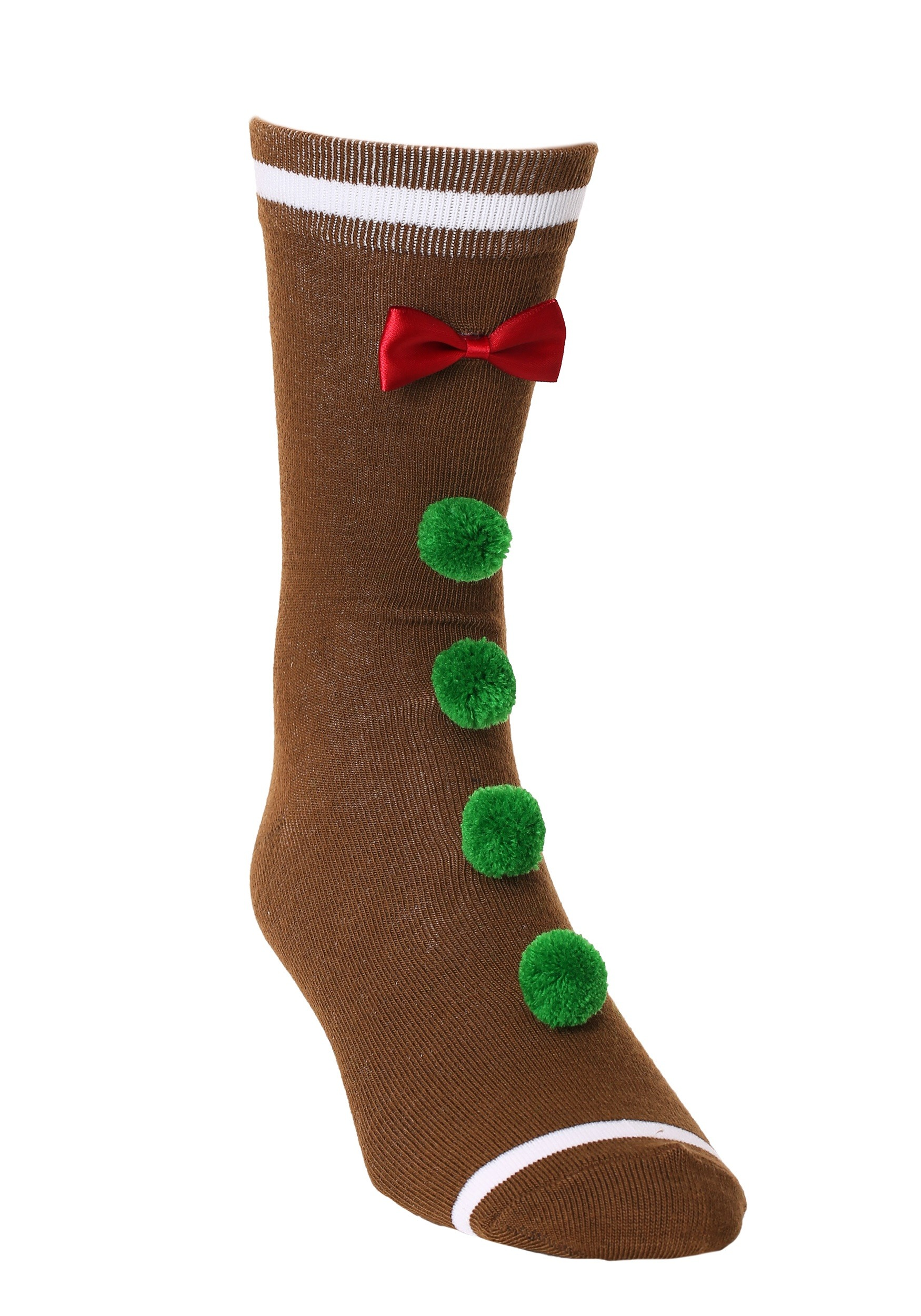 Novelty_3D_Gingerbread_Man_Crew_Socks