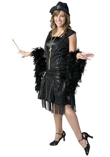 Black Jazz Flapper Costume