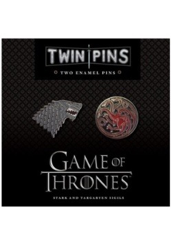Game of Thrones Stark & Targaryen Twin Enamel Pin