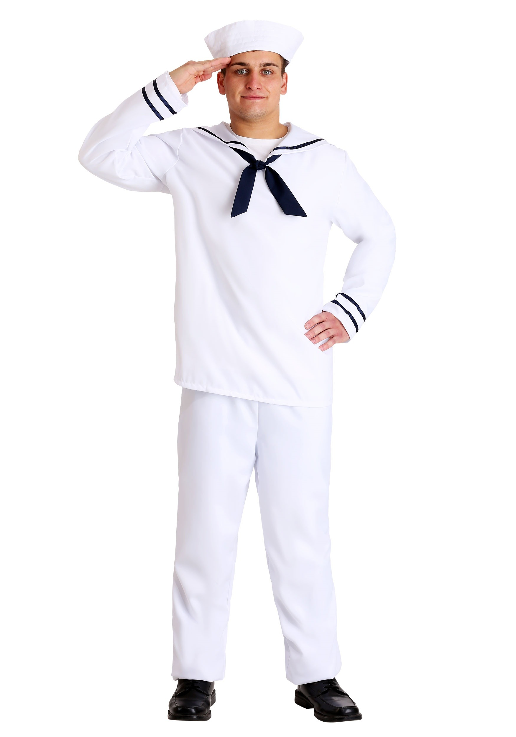 Menu0027s White Sailor Costume  sc 1 st  Halloween Costumes UK & Military Costumes - Adult Kids Army and Navy Halloween Costume