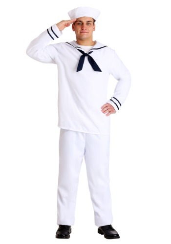 Men's White Sailor Costume