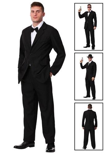 Mens Black Suit Costume