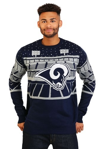Light Up Bluetooth Los Angeles Rams Ugly Christmas Sweater