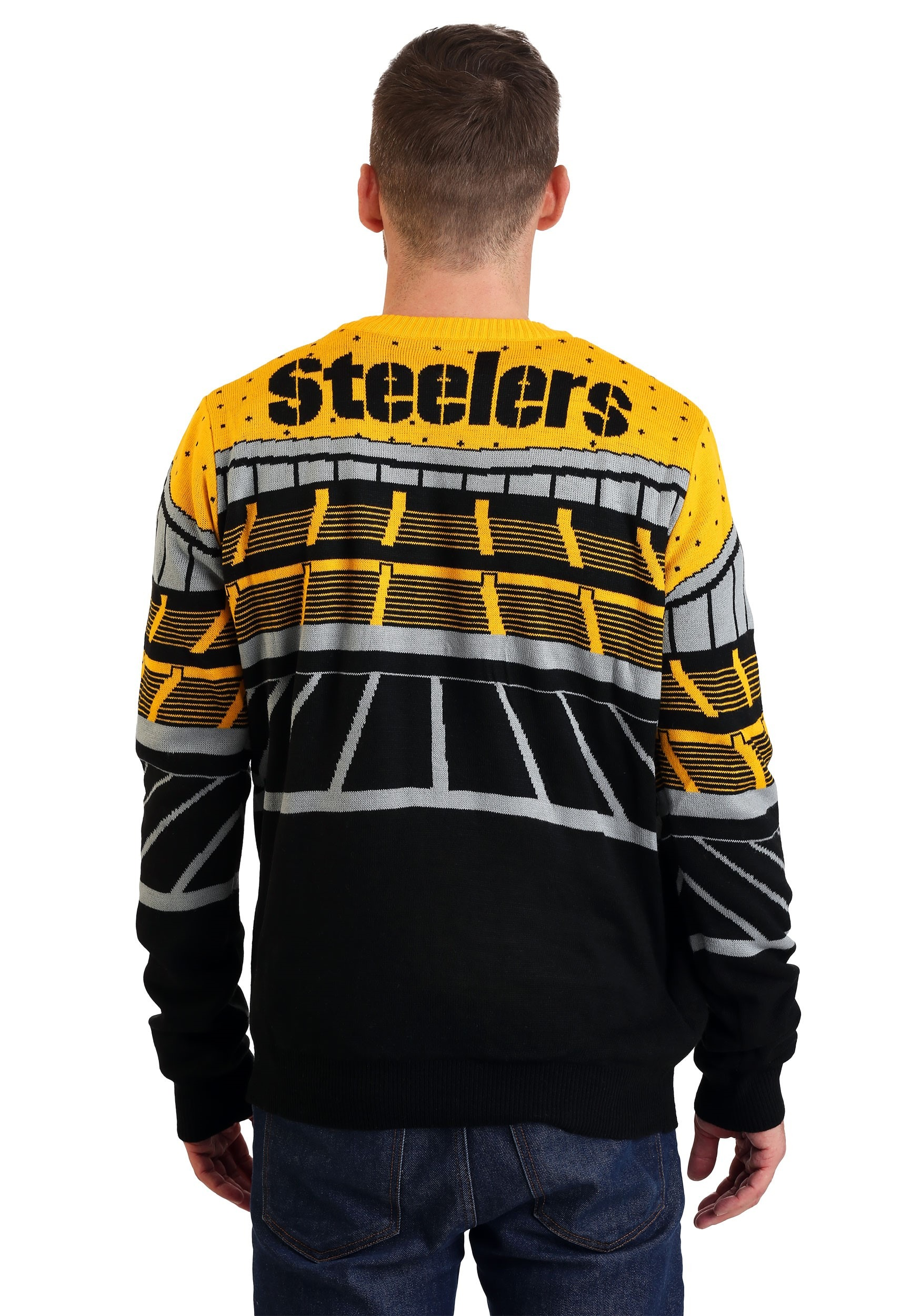 huge discount a4ce8 4817d Pittsburgh Steelers Light Up Bluetooth Christmas Sweater
