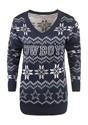 Dallas Cowboys Womens Light Up V-Neck Bluetooth Sweater