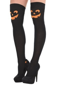 Pumpkin Over the Knee Socks