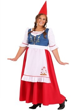 Plus Size Women's Garden Gnome Costume