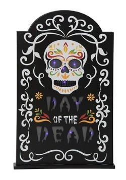 Light-Up Day of the Dead Tombstone Decor
