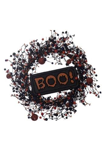 """22"""" Halloween BOO Wreath"""