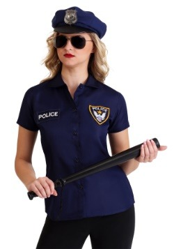 Women's Plus Size Police Shirt Costume