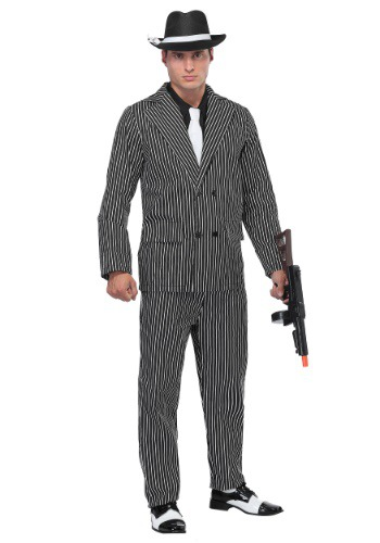 Wide Stripe Plus Size Gangster Costume