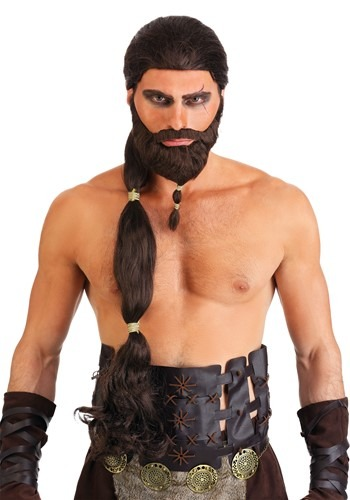 Men's Warrior King Wig and Beard