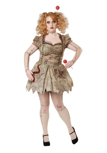 Women's Plus Size Voodoo Dolly Costume