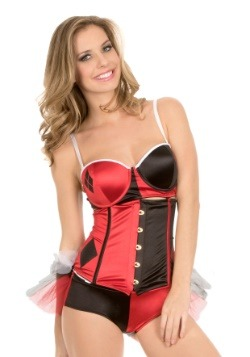 Harley Quinn 4-1 Corset with Removable Ruffle