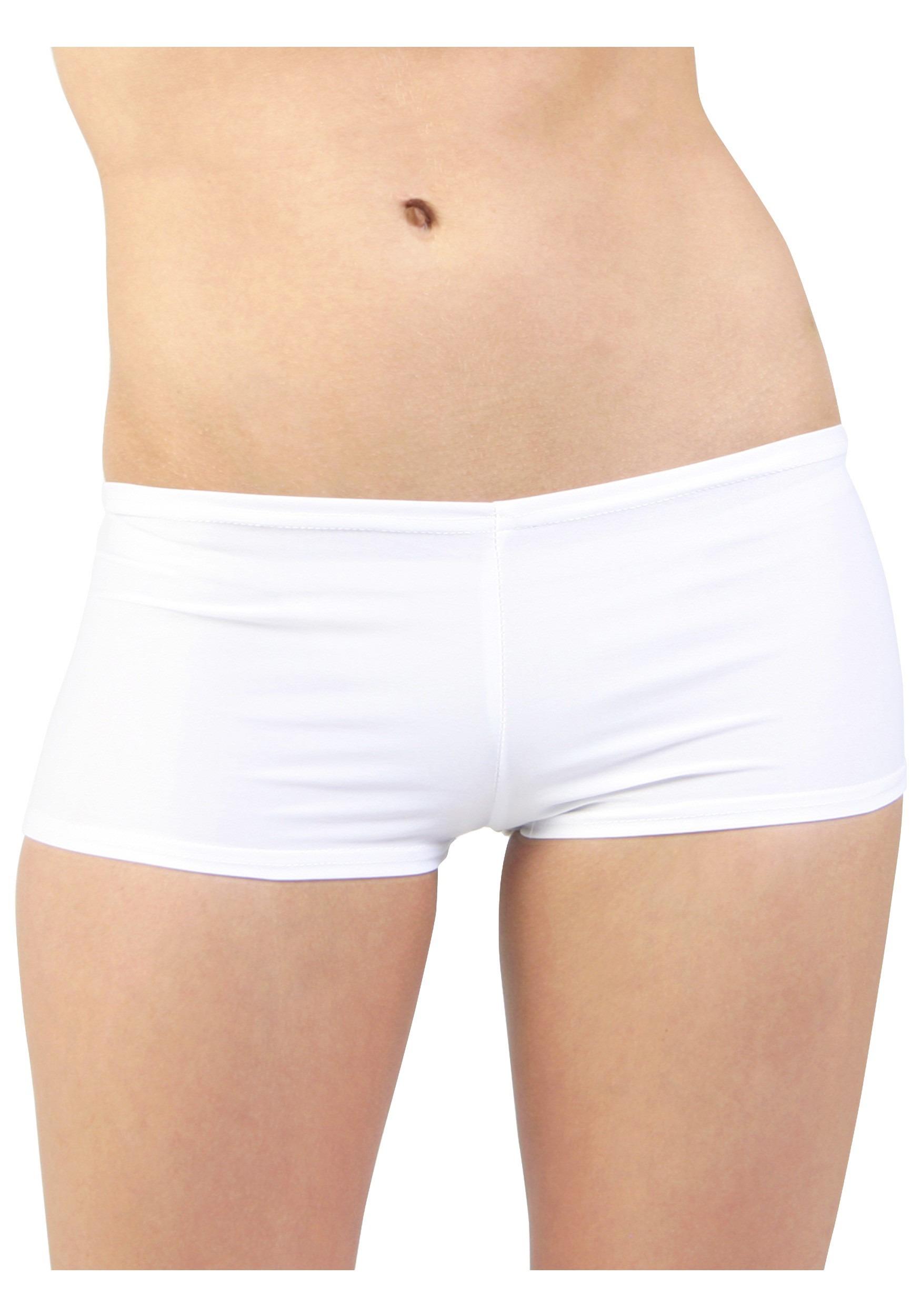Plus Size White Hot Pants