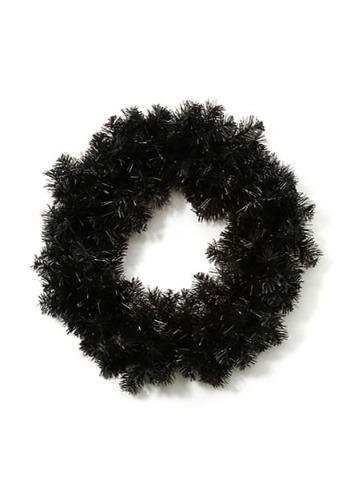 "20"" Black Halloween Wreath"