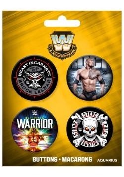 WWE Legends 4-Pack Button Set