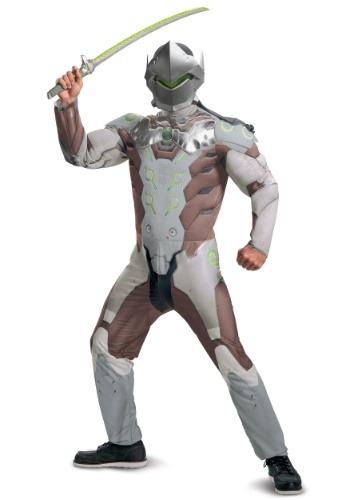 Overwatch Adult Genji Muscle Costume