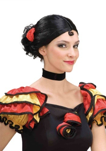 Womens Spanish Senorita Wig