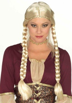 Women's Blonde Renaissance Braided Wig