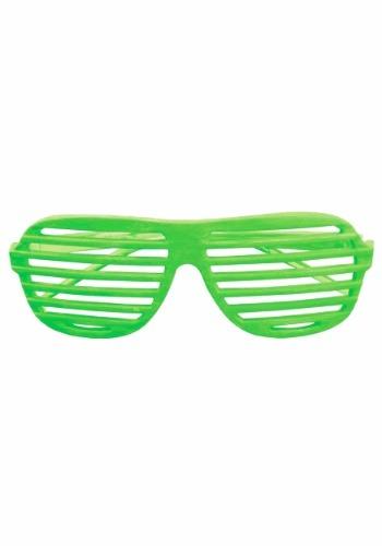 Neon Green Slot Glasses