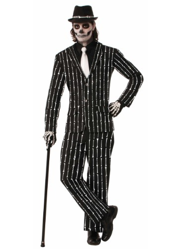 Men's Bone Pin Stripe Suit