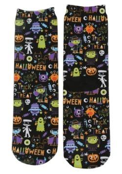Halloween Monsters Adult Crew Cut Socks