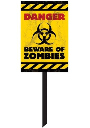Zombie Yard Sign Decoration