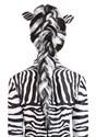 Zebra Wig Women's Back