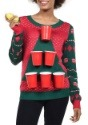 Tipsy Elves Womens Beer Pong Ugly Christmas Sweater alt4