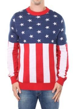 Men's Tipsy Elves American Flag Holdiay Sweater