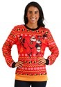 Adult Incredibles Red Ugly Christmas Sweater