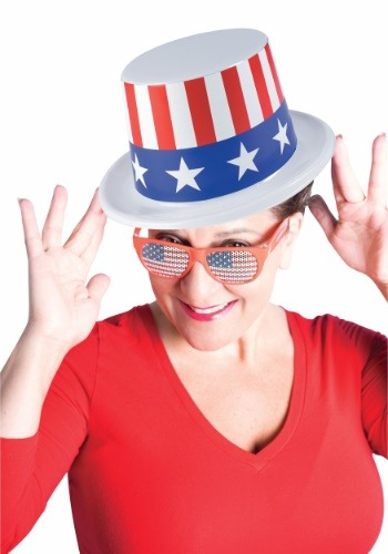 Plastic Patriotic Top Hat