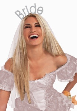 Glitter Bride Headband