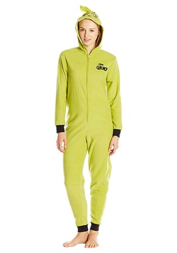 Women's Grinch Pajama Costume