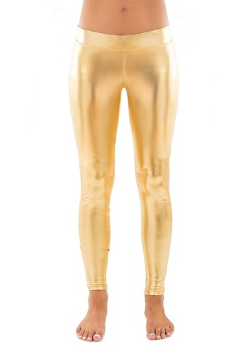 Tipsy Elves Women's Gold Leggings