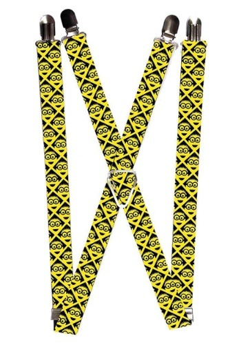 "Despicable Me Yellow Minion 1"" Suspenders"