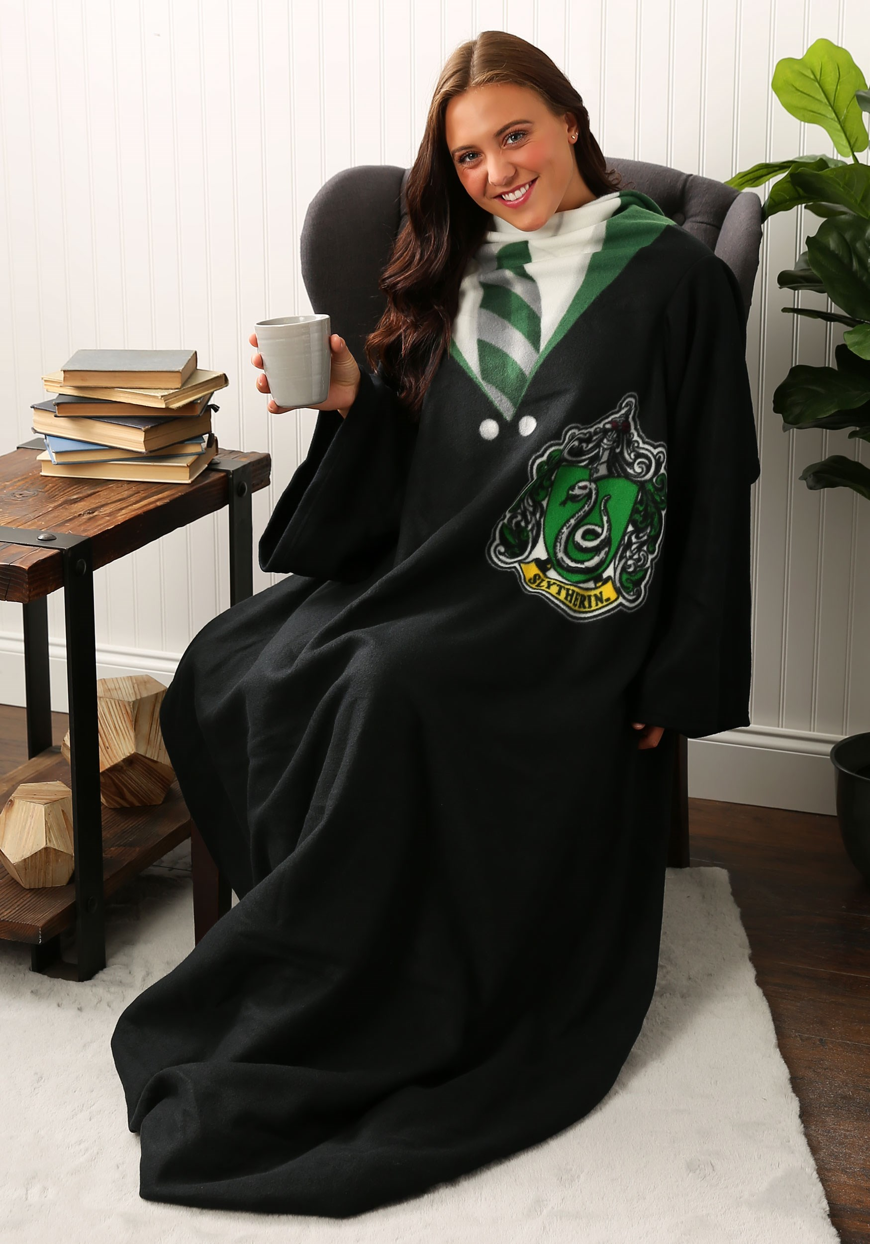 Harry Potter Slytherin Comfy Throw For Adults And Kids