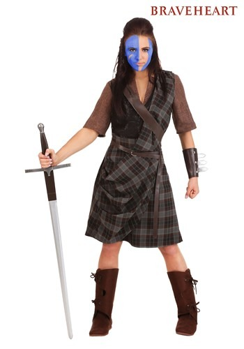 Women's Braveheart Warrior Costume