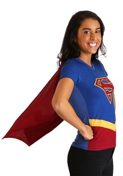 Supergirl Cape Costume Womens T-Shirt