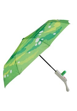Rick and Morty Portal Gun Compact Umbrella Main