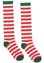 White and Red Striped Adult Socks