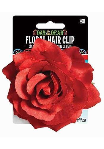 Day of the Dead Rose Hair Clip