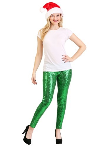 Tipsy Elves Green Sequin Women's Leggings