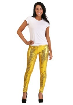 Tipsy Elves Gold Sequin Women's Leggings